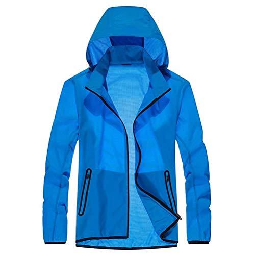 E Uomo Traspirante Lunga Protezione Fashion Con Estiva Uv Pura Gli Hx Esterni Colorazione Giacca Abiti Taglie Comode Per Blau Cappuccio ZxYIwqC