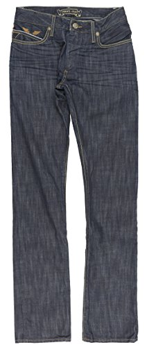 Robin's Jean Studded Chevron Mens Straight Leg Denim in Dark Blue (Straight Leg Jeans Studded)