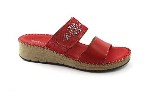 Grunland Pole CI1331 red Slippers Womens Heels Glitter Rosso 542sGf