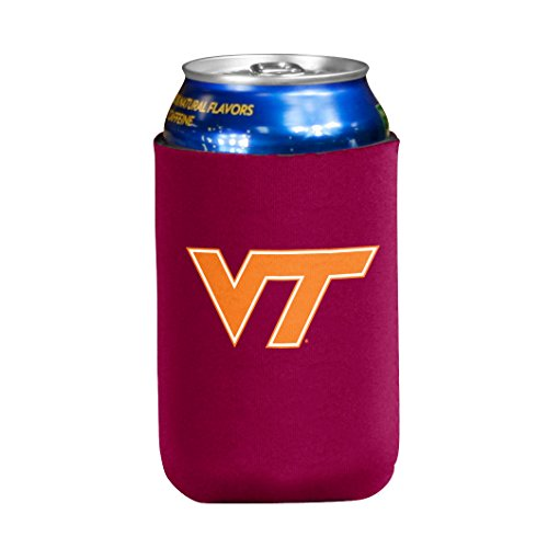 - NCAA Virginia Tech Hokies Flat Drink Coozie