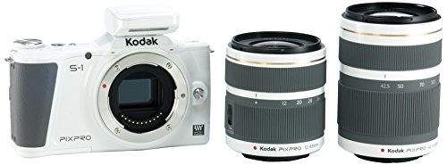 (Kodak PIXPRO S-1 Compact System Digital Camera with 12-45mm Lens, 42.5-160mm Lens and 3