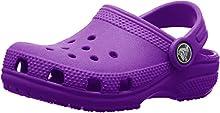 Crocs Classic Clog Kids Roomy fit Zuecos Unisex niños, Morado (Amethyst), 33/34 EU