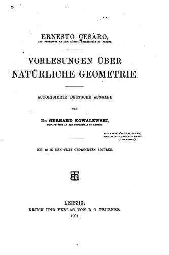 Vorlesungen über natürliche Geometrie (German Edition)