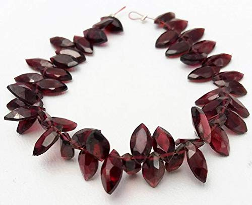 GemAbyss Beads Gemstone Natural Pink Garnet Faceted Marquise Shaped Beads, Very Nice Quality, Size - 5x10 mm, 7 Inch Long Strand 140 ct.Approx[E0809] Garnet Marquise Code-MVG-33657