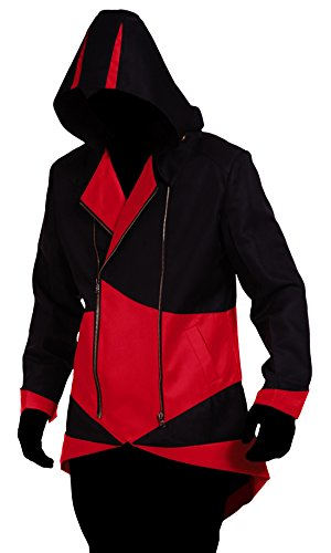 Creed Jacket Assassins Costume (TEENTAGE Assassin's Creed 3 Connor Kenway Hoodie Jacket, Men-Large,)