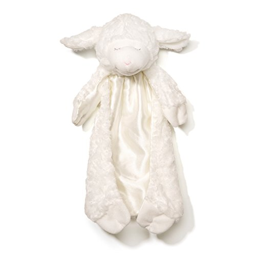 (Baby GUND Winky Lamb Huggybuddy Stuffed Animal Plush Blanket, White)