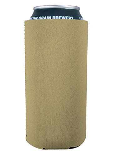 Blank Neoprene Collapsible 16oz Can Coolie (1, Khaki)