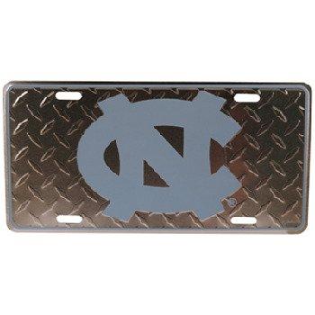 NCAA North Carolina Tar Heels Diamond Plate Car Tag ()