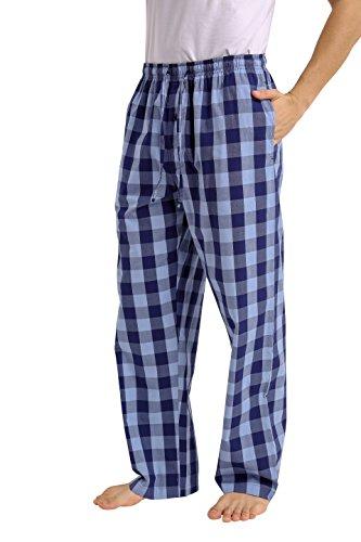 CYZ Men's 100% Cotton Poplin Pajama Lounge Sleep Pant-F1710-L (Pants Tall Mens Pajama)