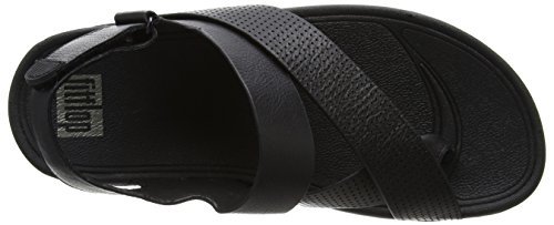 966da6396a1 FitFlop Mens Sling Perf Slingback Leather Sandal Shoes