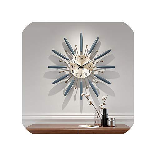 Wenzi-day Large Metal Wall Clock Creative Nordic Simple Clocks Wall Watch Home Decor 70 cm,53 cm