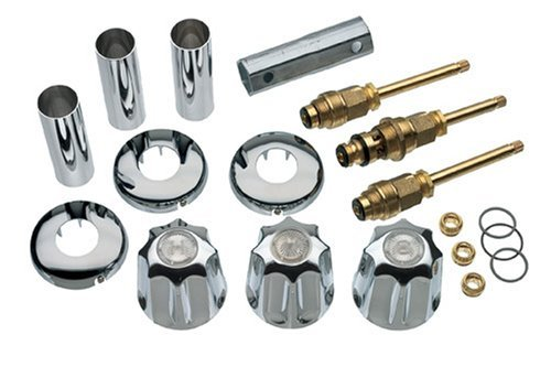 DANCO Bathtub and Shower 3-Handle Remodel/Rebuild Trim Kit for Gerber Faucets | Knob Handle | 11B-1H, 11B-1C, 11B-4D | Chrome (39617) ()