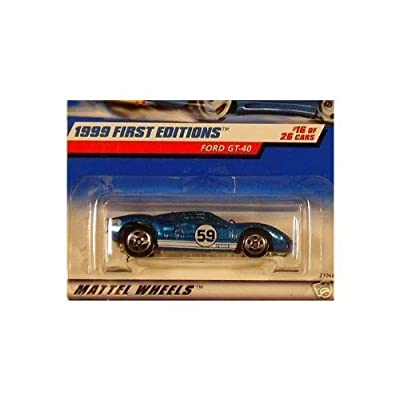 Mattel Hot Wheels 1999 First Editions 1:64 Scale Blue Ford GT-40 16/26 Die Cast Car: Toys & Games