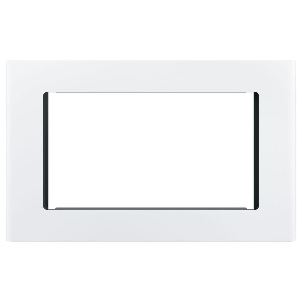 """GE White 27"""" Built-In Microwave Oven Trim Kit"""