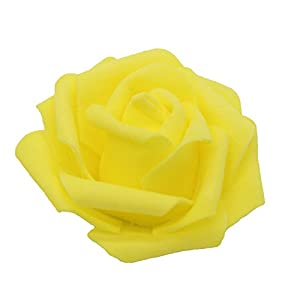 7cm DIY Real Touch 3D Artificial Floral Foam Roses Head Without Stem for Wedding Party Home Decoration-50pcs 3