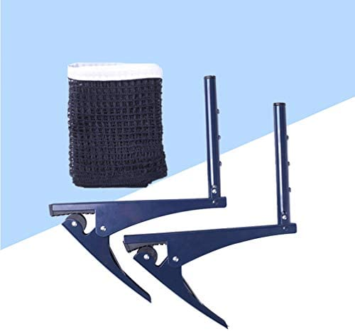 LIOOBO Table Tennis Net Post Set Portable Standard Table Tennis Accessory Ping Pong Rack for Outdoor Home School