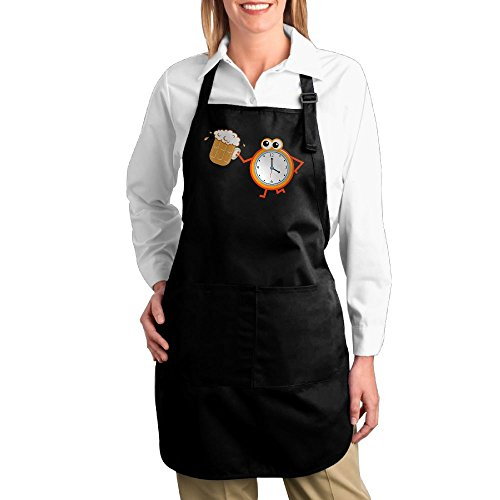Costume Contest Meme (Dogquxio Beer Time Kitchen Helper Professional Bib Apron With 2 Pockets For Women Men Adults Black)