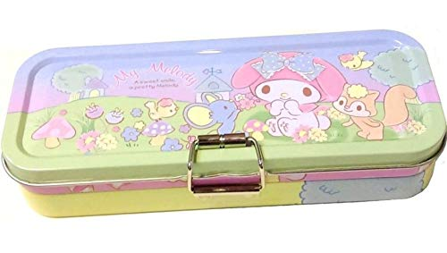 My Melody Triple Deck Pencil Pen Case Metal Box