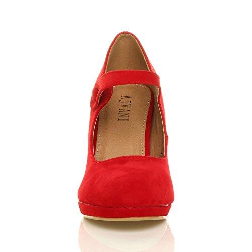 Babies Talon Rouge Travail Femmes Ajvani Jane Escarpins Mary Haut Soir Daim Chaussures Pointure R8UxSwq