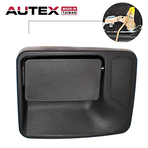 AUTEX Black Exterior Rear Left Door Handle Driver Side Compatible with Ford F-250 350 450 550 99-16 Replacement for Ford Excursion 00-05 80234 (04 F350 Duty Pickup)