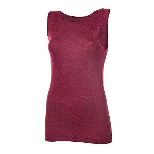 Janus 85% Merino Wool 15% Silk Women's Tank Top Machine Washable Made in Italy. (EU 46 (XXL), Lilac)