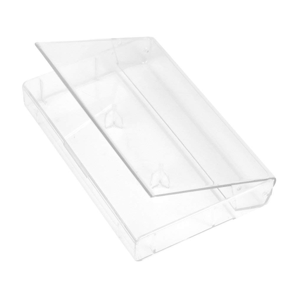 Renewed Evelots Cassette Tape Cases-Clear Plastic Storage-Audio-No Scratch//Dirt-Set//50