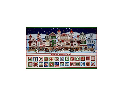 Santa Coming To Town Advent Calendar 24 In. Panel Multi (Advent Calendar Panel)
