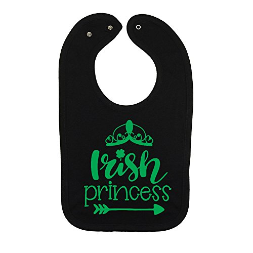Mashed Clothing Unisex-Baby - Irish Princess (Tiara) - St. Patrick's Day Thick PREMIUM 2-Ply Cotton Baby Bib With Snaps (Irish Princess Tiara)