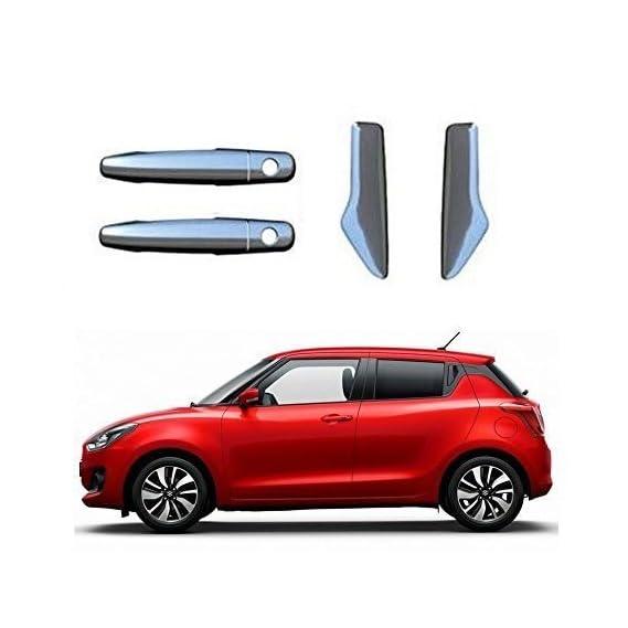 Kozdiko Chrome Handles Door Latch Cover Set of 4 Pcs for Maruti Suzuki Swift (2018-Present)
