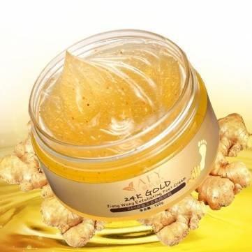 AFY 24K Essence Gold Ginger Exfoliate Foot Cream Feet Hard Dead Skin Remover Mask by Completestore - Ginger Shaver
