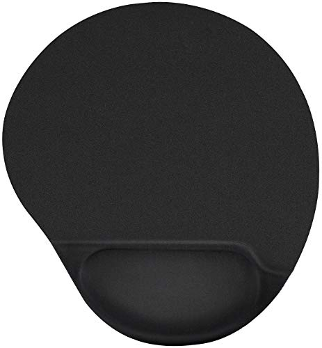MROCO Ergonomic Mouse Pad with Gel Wrist Rest Comfortable Mouse Pad with Wrist Support, Pain Relief Mousepad with Non-Slip PU Base Mouse Mat for Home, Office & Travel, 9.84 x 8.6 inches, Black ()