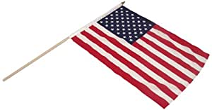 US Flag Store US Stick Flag 12 by 18-Inch Mounted on 24-Inch Wood Stick