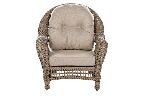 W Unlimited Saturn Collection Garden Patio Furniture Cappuccino Wicker Outdoor Furniture Bistro Set Beige Cushion Lounger Deep Seating (3 Piece Set) - Traditional hand woven wicker strapping with full size round core all-weather resin rattan. Proven to withstand over 4000 hours in direct UV light without fading or warping. Lightweight aluminum frame provides unmatched protection and impact resistance. Small and decorative. Simplistic yet chic. Perfect for a time of great conversation! Great pieces for a nice evening outside with friends and family! - patio-furniture, patio, conversation-sets - 4131i5akp3L -