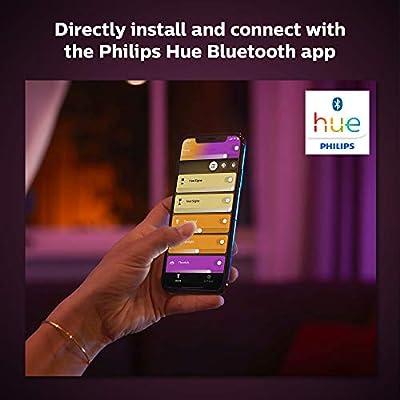Philips Hue Lightstrip Tira Inteligente LED 1m, con Bluetooth, Luz Blanca y Color, Compatible con Alexa y Google Home (extensión): Amazon.es: Iluminación