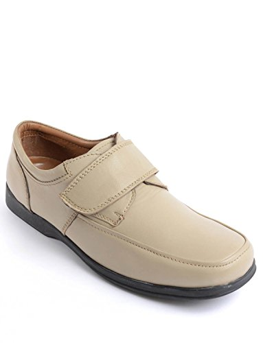 Wide Mens Fastening Touch Taupe Deep Shoes Style Fitting Classic qTqpExn