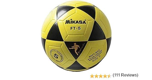 MIKASA FT5 Balón de fútbol, Unisex, Amarillo-Negro, 5: Amazon.es ...