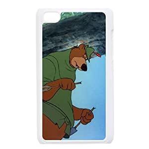 iPod Touch 4 Case White Disney Robin Hood Character Little John 004 YWU9276261KSL