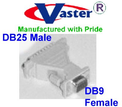 (NULL MODEM ADAPTER, NULL MODEM ADAPTER (DB-9 Female to DB-25 Male))