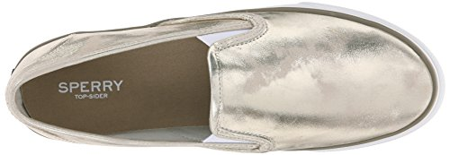 Dorado Zapatillas Seaside Mujer para Metallic Gold Sperry FXwBqw