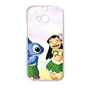 HTC One M8 Cell Phone Case White Disneys Lilo and Stitch zfef