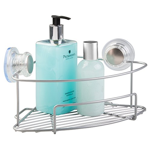 mDesign Suction Bathroom Shower Caddy Co - Suction Corner Shelf Shopping Results