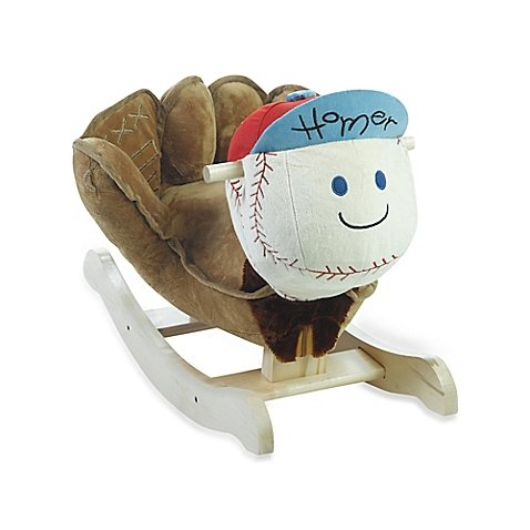 Rockabye™ Homer Baseball Musical Chair Rocker