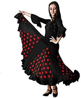 Costumizate! Falda de Lunares Rojo con un Volante para Mujer ...
