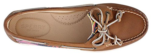 Top Firefish Multi la barco Sperry zapatos de mujer Pink Tan Sider Animal BZ7dCw
