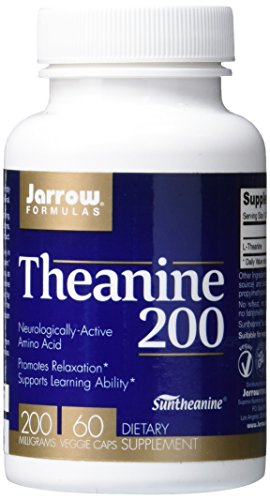 Jarrow Formulas Theanine 200, Promotes Relaxation, 200 mg, 60 Caps