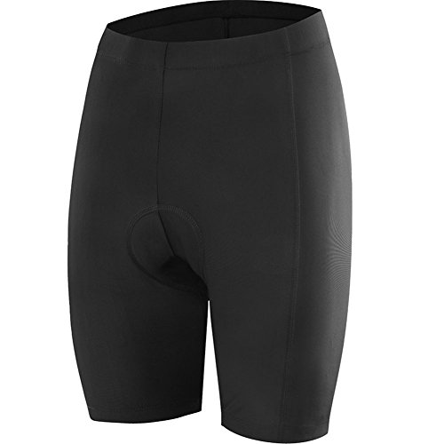 NOOYME Women's Cycling Shorts for Bicycle with 3D Padded Classics Designed Women Bike Shorts (X-Large, Classic Black) (Best Bike Shorts For Long Rides)