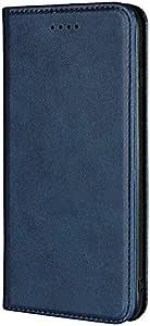 جراب محفظة جلد قلاب من Kaiyue لهاتف Oppo Reno 2 - أزرق