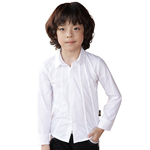 NABER Kids boys Fashion Button-down Long Sleeve Party Dress Shirt 5-6 Years