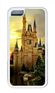 iPhone 5c Case, iPhone 5c Cases -Cinderella Castle TPU Rubber Soft Case Back Cover for iPhone 5C¡§C White