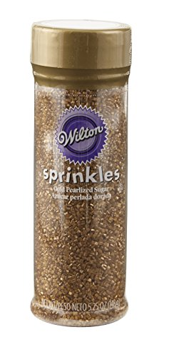 Cupcake Sprinkles - Wilton 710-041 Pearilized Sugar Food Decorative, Gold, 5.25 oz.